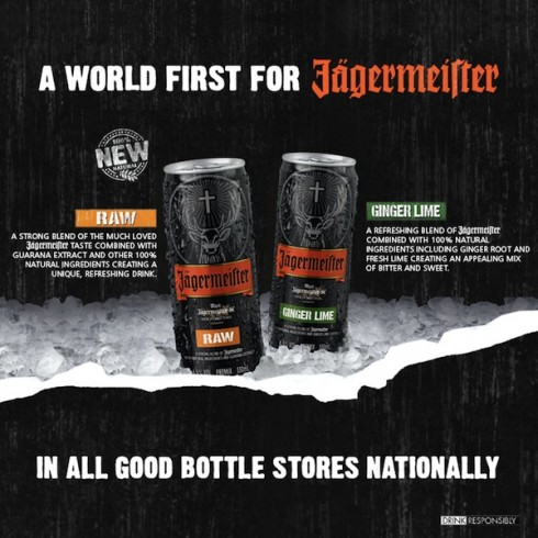 Jägermeister RAW and Jägermeister Ginger Lime